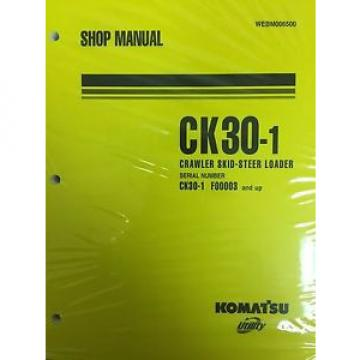 Komatsu Honduras  CK30-1 Crawler Skid-Steer Track Loader Shop Repair Service Manual
