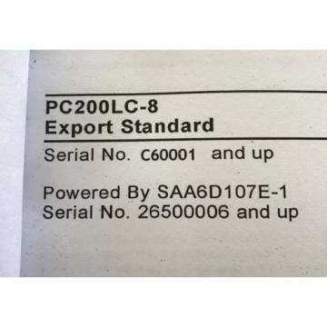 Komatsu Andorra PC200LC-8 Hydraulic Excavator Parts Book Manual s/n C60001 AND UP & GIFT