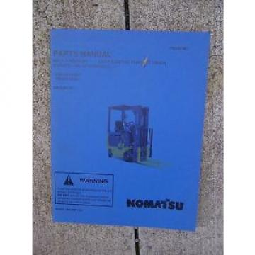 2003 Netheriands Komatsu ABX7 Electric Forklift Truck Illustrated Parts Manual GE Controls V