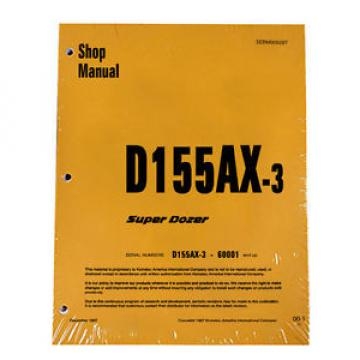 Komatsu Botswana  D155AX-3 Series Dozer Service Shop Repair Printed Manual