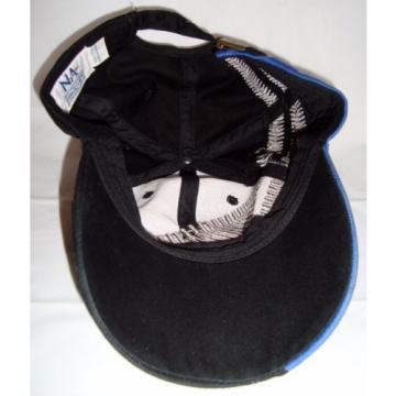 Komatsu Egypt  Black Blue Embroidered Tracks Rubber Logo Strapback Baseball Cap Hat
