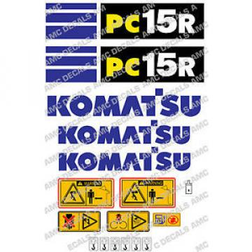 KOMATSU Barbados  PC15R SET DI ADESIVI DECAL SCAVATRICE