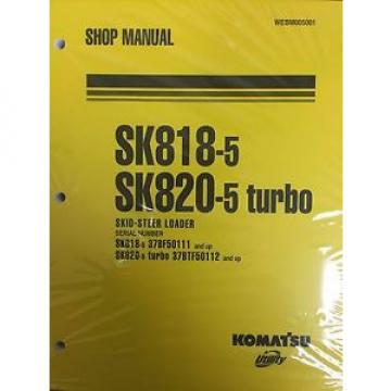 Komatsu Barbuda  Service SK818-5, SK820-5 TURBO Skid Steer Shop Manual