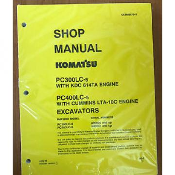 Komatsu Ecuador  PC300LC-5LC, PC400LC-5LC Service Repair Printed Manual