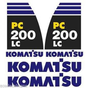 Komatsu Brazil  PC200-8LC Decals Stickers New Repro Decal Kit