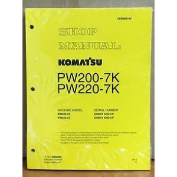 Komatsu Niger Service PW200-7K PW220-7K Excavator Shop Manual NEW REPAIR BOOK