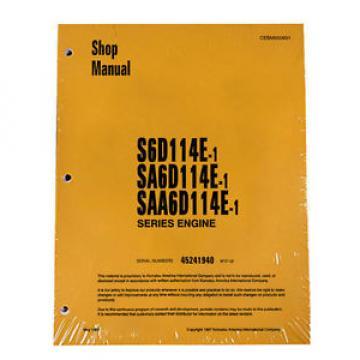 Komatsu Rep. S6D114E-1, SA6D114E-1, SAA6D114E-1 Service Printed Manual