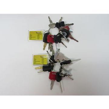 2 Niger sets of Master Key Set (16 keys) for Heavy Plant Caterpillar, Komatsu Hitachi