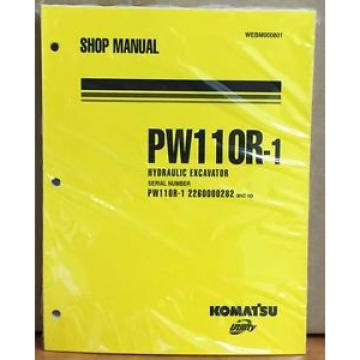 Komatsu Samoa Western  Service PW110R-1 Excavator Shop Manual NEW REPAIR