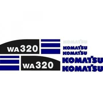 New Oman Komatsu Wheel Loader WA320 (New Style) Blue Decal Set