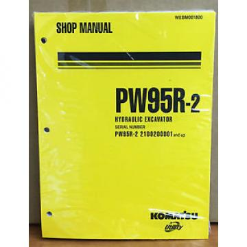 Komatsu Ethiopia  Service PW95R-2 Excavator Shop Manual NEW REPAIR