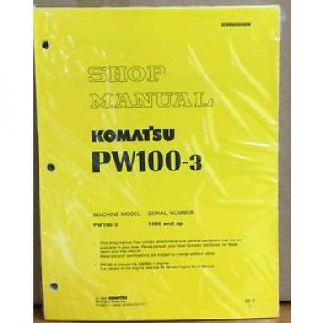 Komatsu Cuba  Service PW100-3 Excavator Shop Manual NEW REPAIR