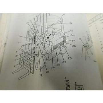 Komatsu Laos FB20SH/25SH/30SH Parts Service Repair Maintenance Manual Book (E33-2244)