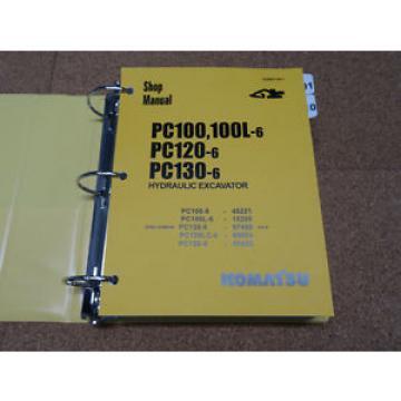 Komatsu Ethiopia PC100-6 PC100L-6, PC120-6, PC130-6 Excavator Service Shop Repair Manual