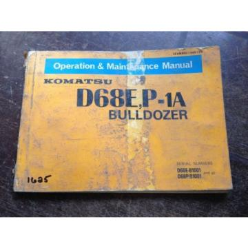 OEM France  KOMATSU D68E, P-1A Bulldozer Operation & Maintenance Manual Book AUC