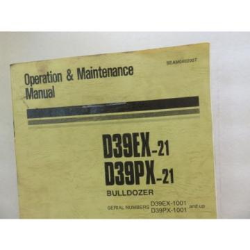 Komatsu Guinea  - D39PX-21 D39EX-21 - Bulldozer Maintenance Operation Manual SEAM040200T