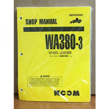 Komatsu France WA380-3 Wheel Loader Shop Service Repair Manual (10001 & up)