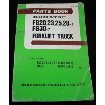 Komatsu Malta Forklift FG20 FG23 FG25 FG28 FG30 Parts Manual Book Lift Truck