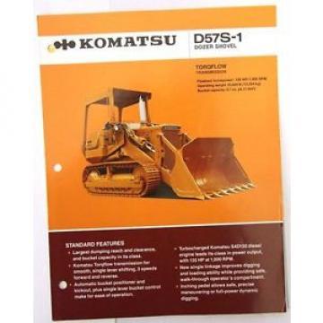 Komatsu SamoaWestern D57S-1 Dozer Shovel Original Sales/specification Brochure