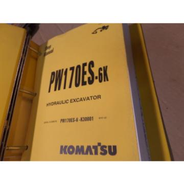KOMATSU Liechtenstein  PW170ES-6K EXCAVATOR SHOP MANUAL S/N K30001 & UP