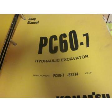Komatsu Botswana PC60-7 Hydraulic Excavator Repair Shop Manual