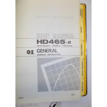 KOMATSU CostaRica HD465-2 Dump Rock Haul Quarry Truck Service Repair Manual Book Shop 1983