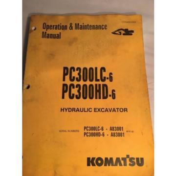 Komatsu Laos PC300LC-6, PC300HD-6 HydraulicExcavator Operation & Maintenance Manual