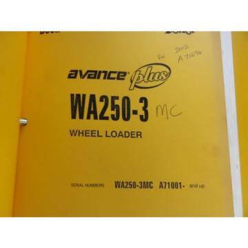 Komatsu Brazil WA250-3MC Parts and Operation and Maintenance Manuals