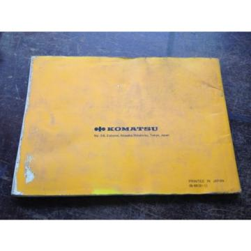OEM Haiti  KOMATSU D58E-1, 1A, 1B D58P-1 Bulldozer Operation Maintenance Manual AUC
