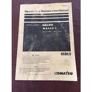 KOMATSU Brazil  WA500-6 WHEEL LOADER 500 OPERATION MAINTENANCE BOOK MANUAL