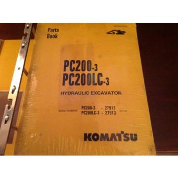 Komatsu France  Excavator PC200-3/PC200LC-3 Parts Book