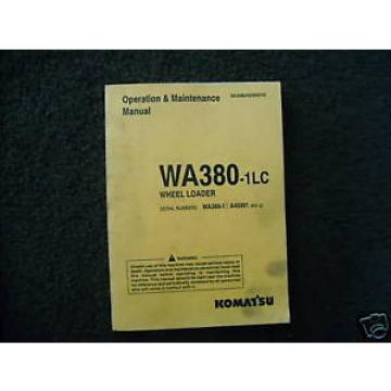 Komatsu France WA380-1LC Operation & Maintenance manual