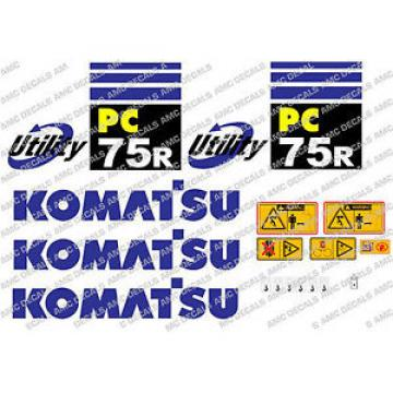 KOMATSU Gibraltar  PC75R DIGGER DECAL STICKER SET