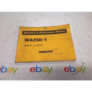 Komatsu Rep. WA250-1 Operation & Maintenance MANUAL WHEEL LOADER PSEAMU4180102