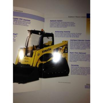 Komatsu Brazil  CK30-1 Compact Rubber Tracked Loader , Sales Brochure & specifications.