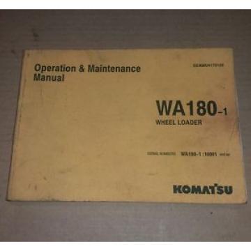 Komatsu Uruguay WA180-1 OPERATION MAINTENANCE MANUAL WHEEL LOADER