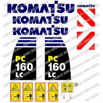 KOMATSU Mauritius  PC160LC -8 DIGGER DECAL STICKER SET