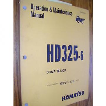 Komatsu Egypt  HD325-6 OPERATION MAINTENANCE MANUAL DUMP HAUL TRUCK OPERATOR GUIDE BOOK