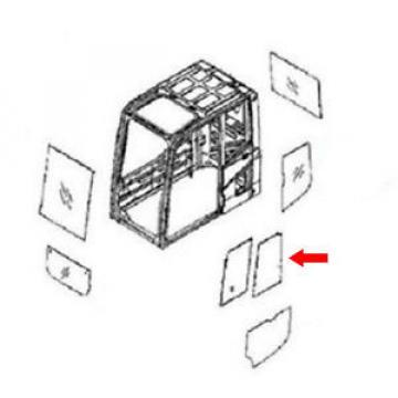 20Y-54-52840 Bulgaria Rear Door Slider Glass Fits Komatsu Excavator PC290NLC-6K PC130-6K