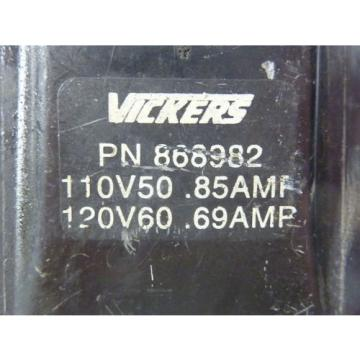 Vickers Netheriands  868982 Coil 69A-85A 110/120V 50/60HZ  USED