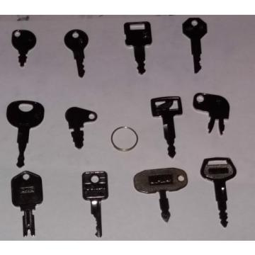12 Samoa Western  HEAVY EQUIPMENT KEYS SET CASE-CAT JD KOMATSU THE BASICS-GREAT STARTER SET NEW