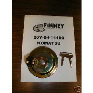 Komatsu Cuinea Wheel Loader Locking Fuel Cap 20Y-04-11160 NEW 20Y-04-11161