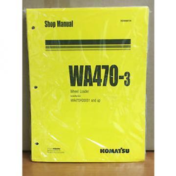 Komatsu Haiti WA470-3 Wheel Loader Shop Service Repair Manual (WA470H20051 & up)