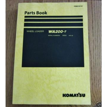 KOMATSU Denmark  WHEEL LOADER WA200-7 PARTS BOOK SER # 80262 AND UP