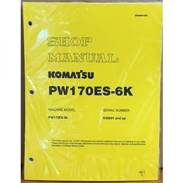 Komatsu Moldova, Republic of  Service PW170ES-6K Excavator Shop Manual NEW REPAIR