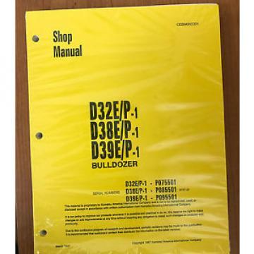 Komatsu Niger D32E/P-1, D38E/P-1, D39E/P-1 Dozer Bulldozer Service Shop Repair Manual