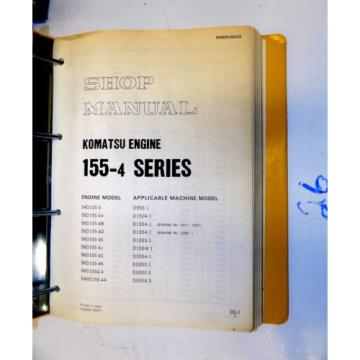 KOMATSU Fiji  155-4 SERIES ENGINE SHOP MANUAL