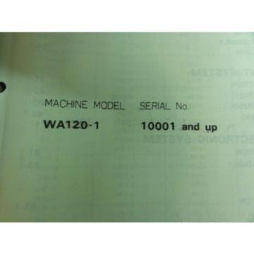 Komatsu France WA120-1 Wheel Loader Shop Manual