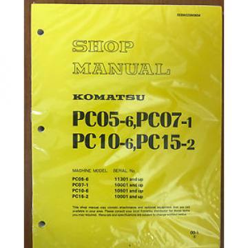Komatsu France PC05-6 PC07-1 PC10-6 PC15-2 Shop Service Repair Printed Manual