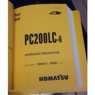 PARTS Liechtenstein  MANUAL FOR PC200LC-6 SERIAL A83001 AND UP KOMATSU CRAWLER EXCAVATOR
